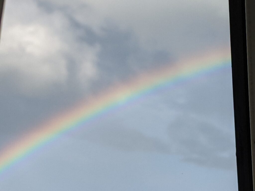 Rainbow from my window in Saltburn